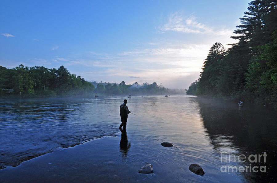 Flyfishing in maine photograph by glenn gordon for Fly fishing maine