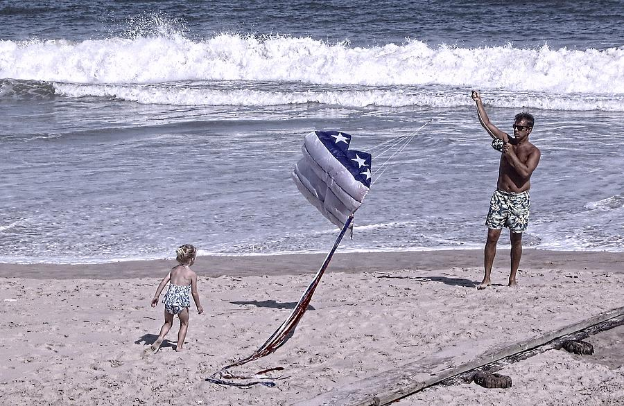 Flying A Kite On The Beach I Rehoboth Beach Delaware Photograph