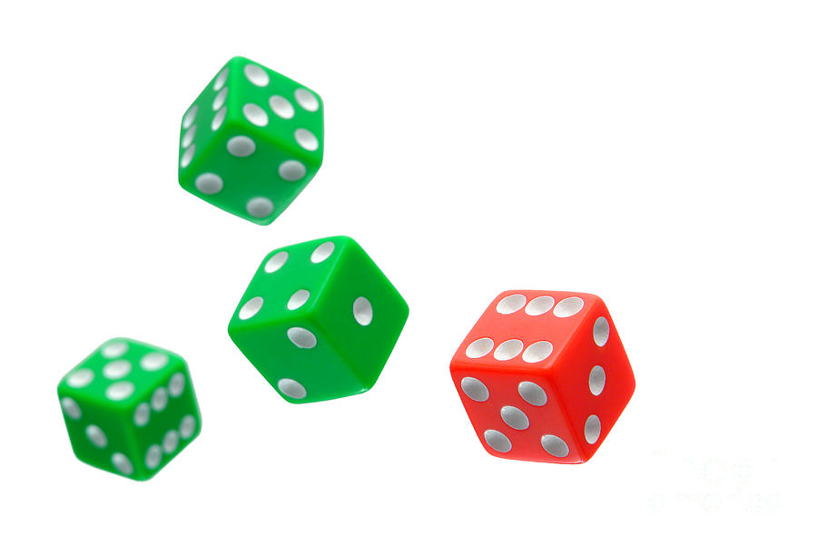 Flying Craps Dice  Photograph