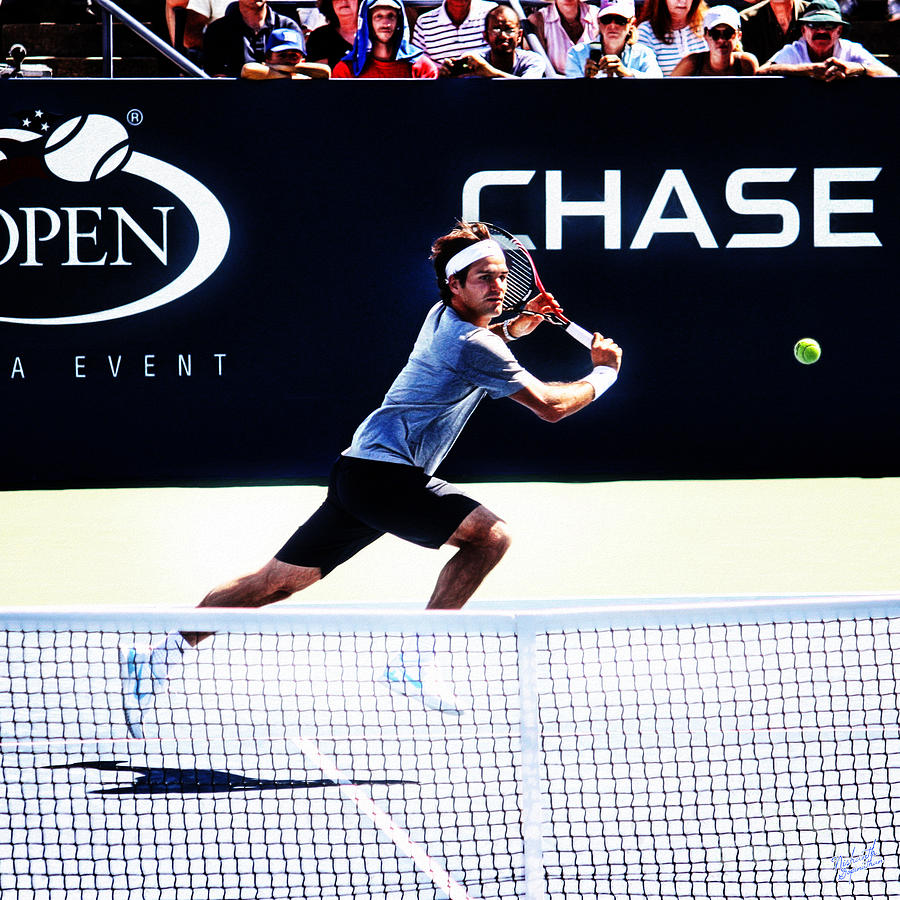 Flying Federer  Photograph  - Flying Federer  Fine Art Print