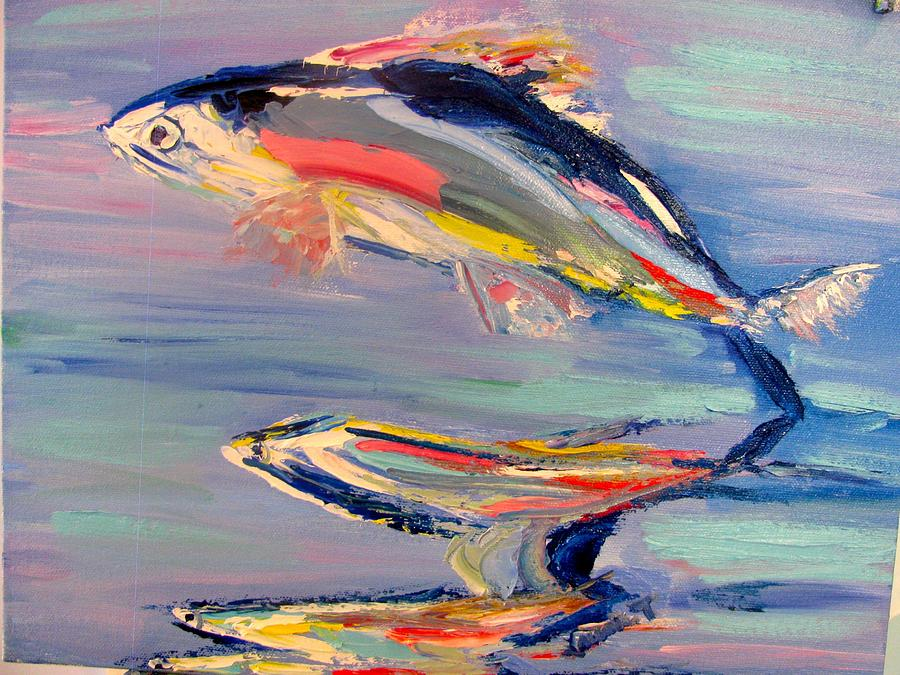 Flying fish painting by laurie tuchel for Flying fish images