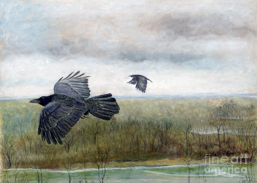 Flying To The Roost Painting