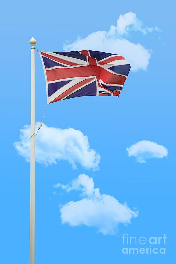 Union Photograph - Flying Union Jack by Amanda And Christopher Elwell