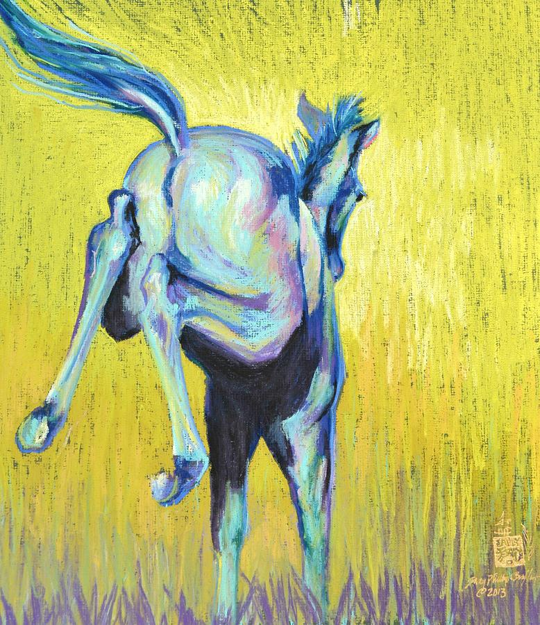 Foal At Play Pastel
