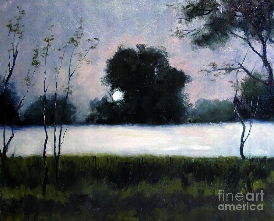 Fog Painting - Fog Moon by Charlie Spear