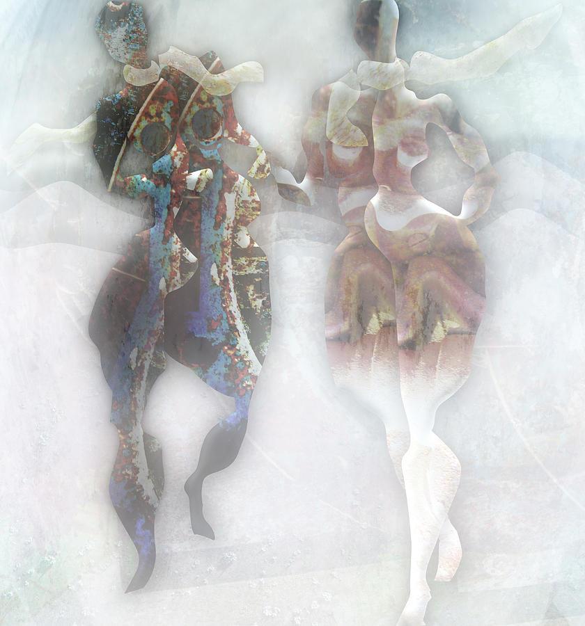 Act Digital Art - Fog On The Promenade by Florin Birjoveanu