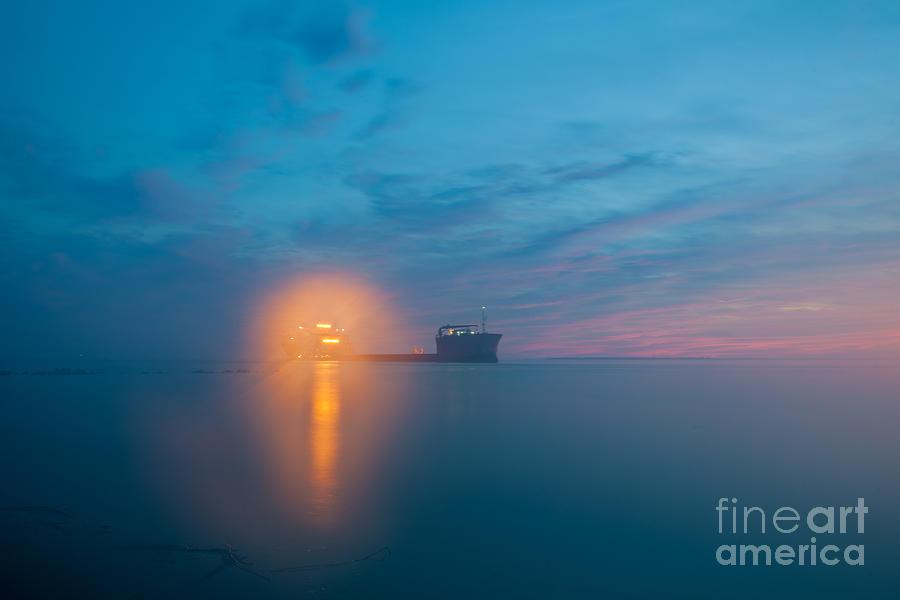 Fog Over Charleston Harbor Photograph
