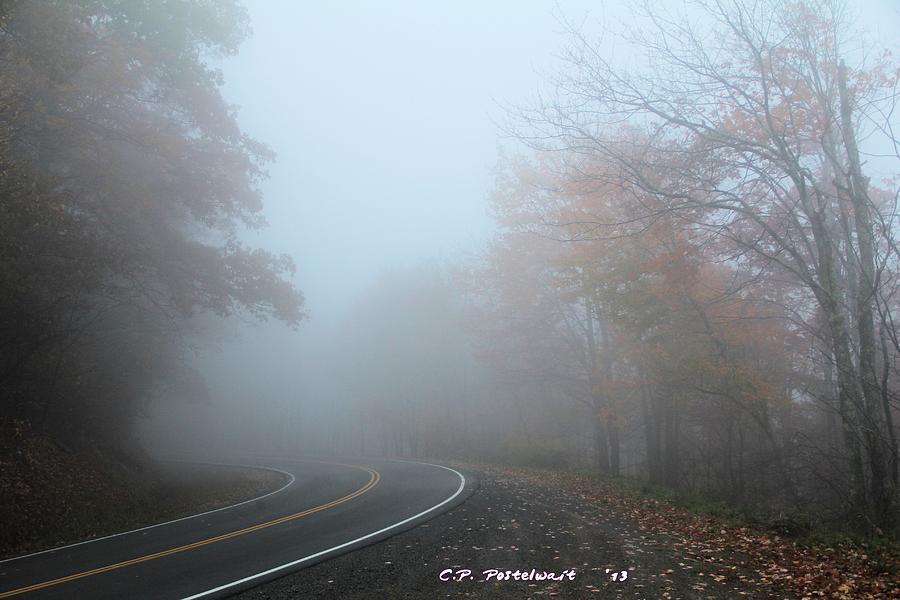 Fog Photograph - Foggy Autumn Day by Carolyn Postelwait