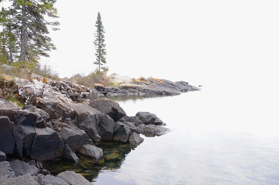 Foggy Day On Lake Superior Photograph