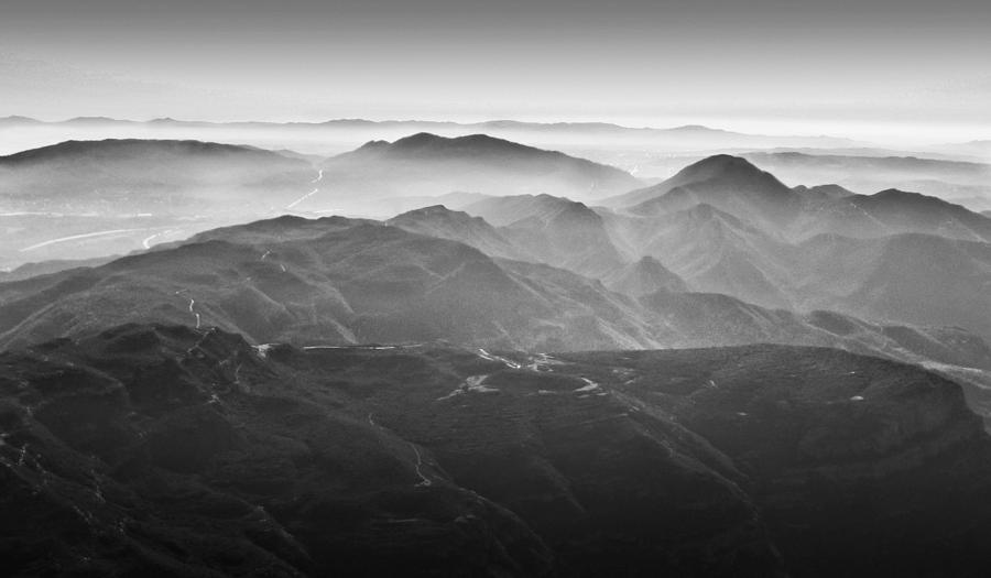 Foggy Mountains Photograph by Nadya Ost