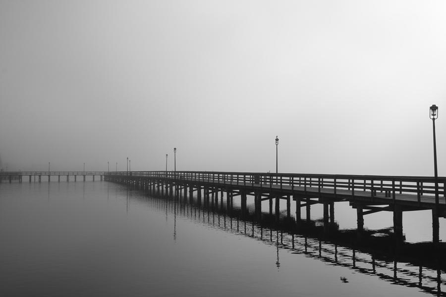 Foggy Pier Photograph