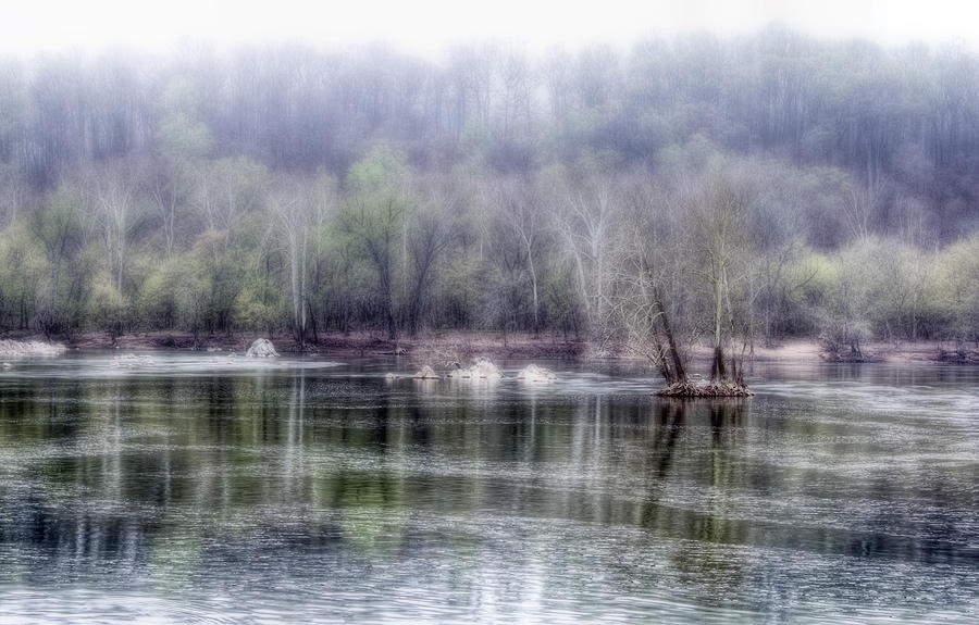 Foggy View On Potomac River Photograph