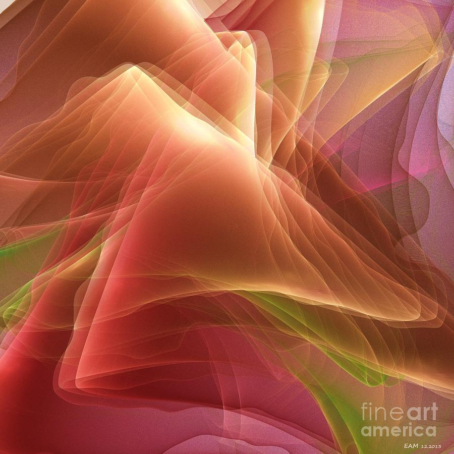 Folding Echoes   Digital Art