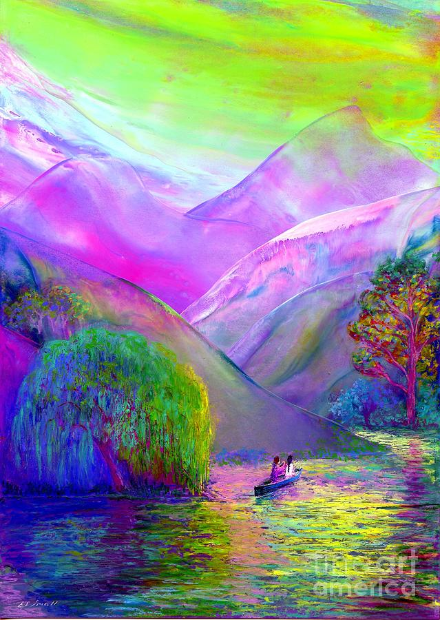 Following The Flow Painting  - Following The Flow Fine Art Print