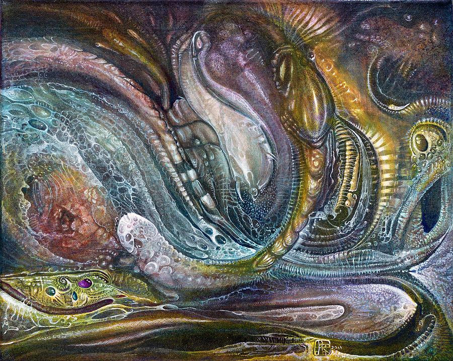 otto Rapp Painting - Fomorii Interior II by Otto Rapp
