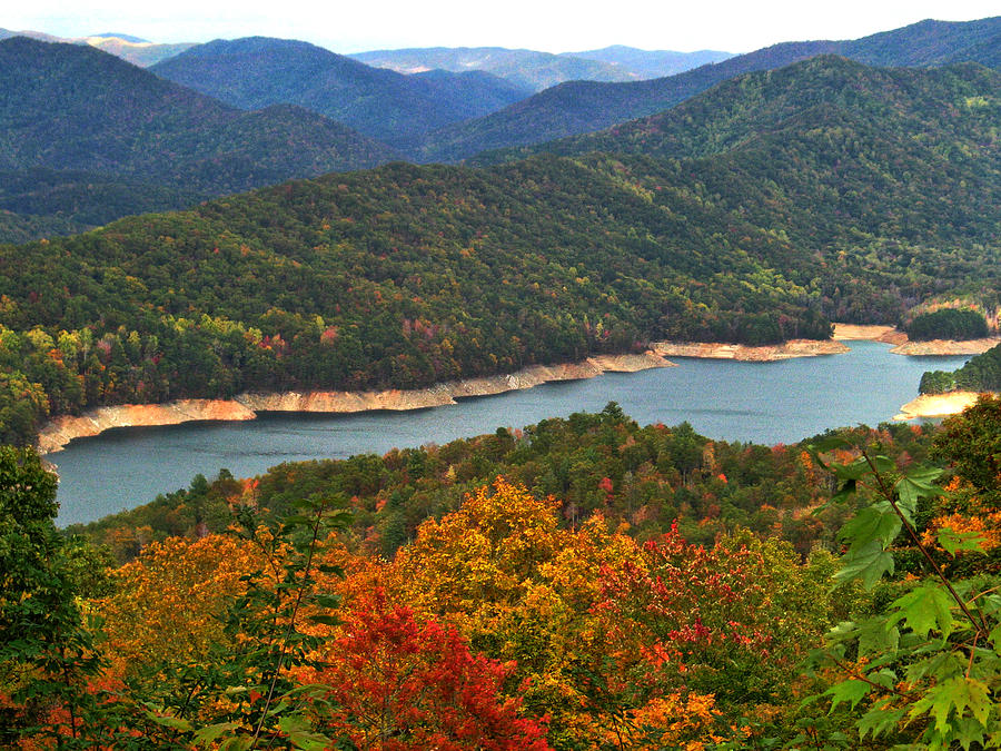 Fontana lake in fall photograph by shari jardina for Jardina