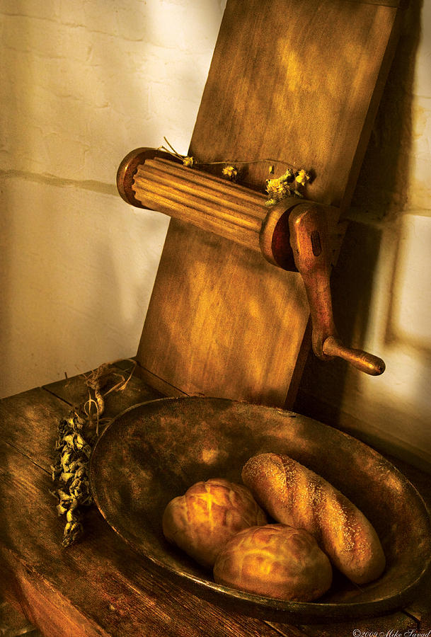 Kitchen Photograph - Food -  Bread  by Mike Savad