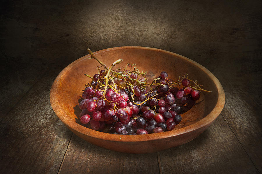 Food - Grapes - A Bowl Of Grapes  Photograph