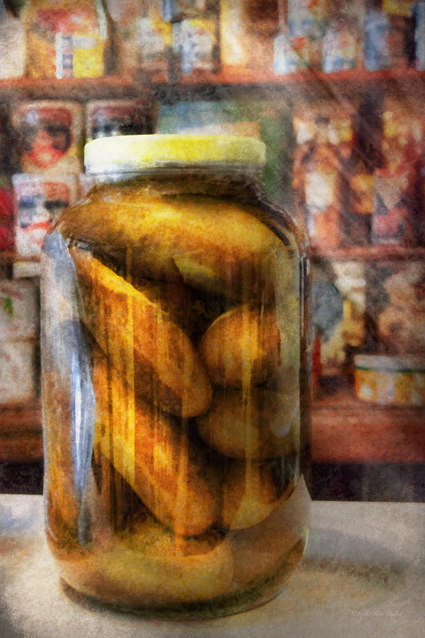 Pickle Photograph - Food - Vegetable - A Jar Of Pickles by Mike Savad