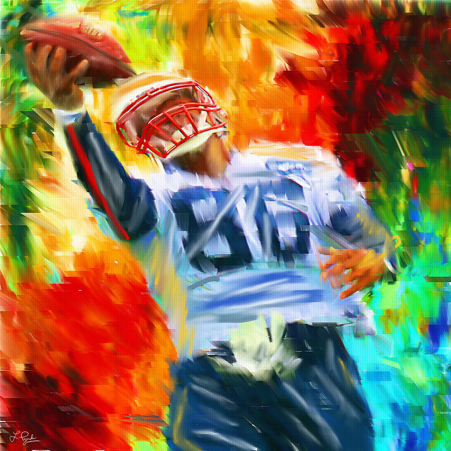 Quarterback Digital Art - Football II by Lourry Legarde