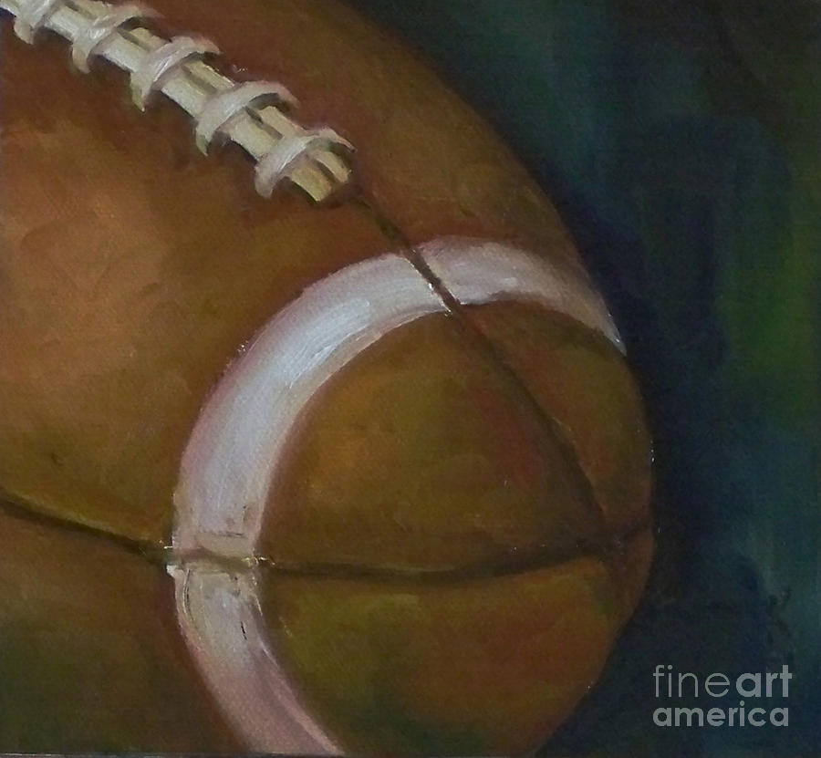 Football No. 1 Painting  - Football No. 1 Fine Art Print
