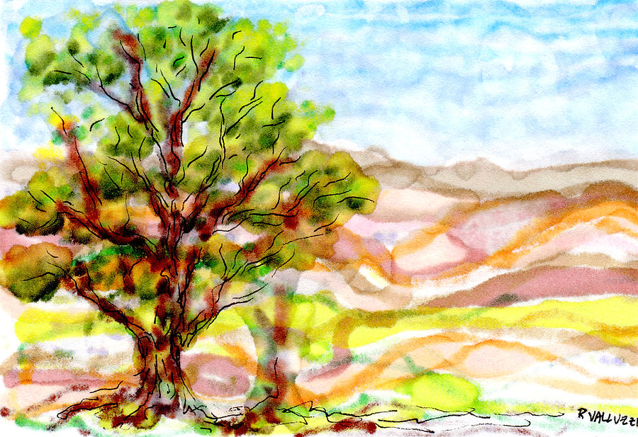 Foothills Drawing  - Foothills Fine Art Print