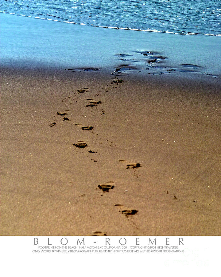 Footsteps In The Sand Photograph