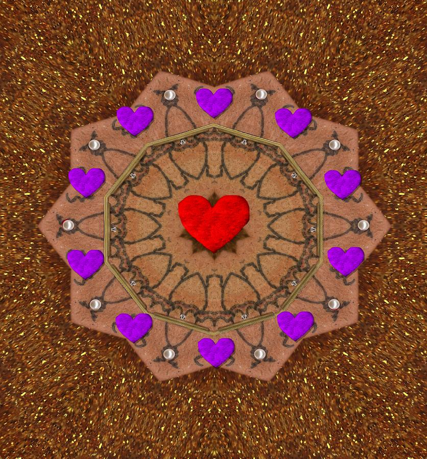 For The Love Of Hearts Mixed Media