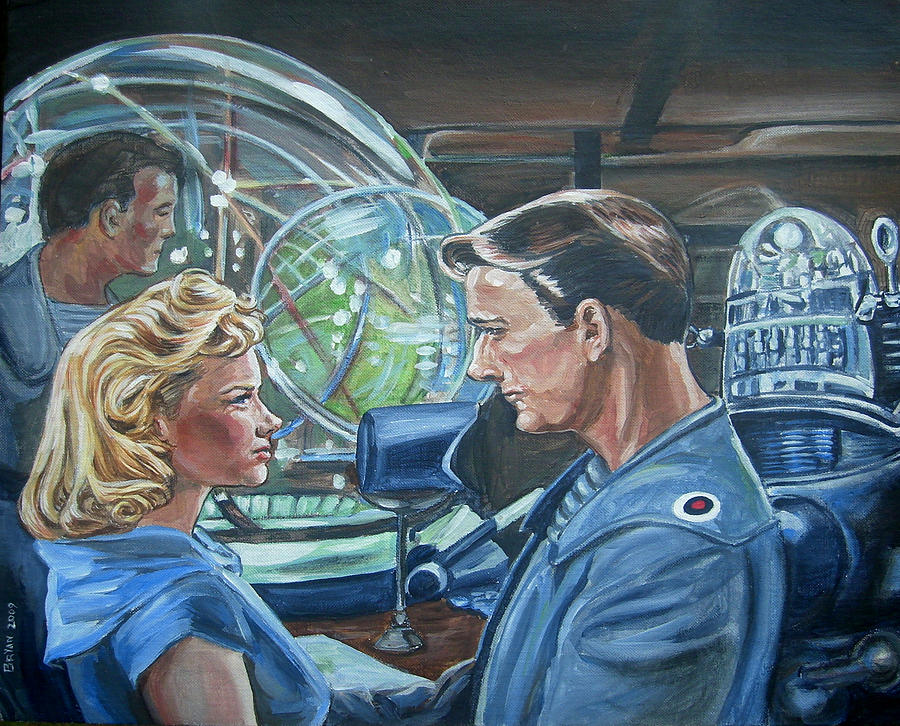 Forbidden Planet Painting  - Forbidden Planet Fine Art Print
