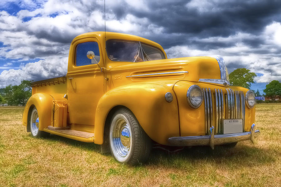 Ford Pickup Photograph - Ford Jailbar Pickup Hdr by Phil motography Clark