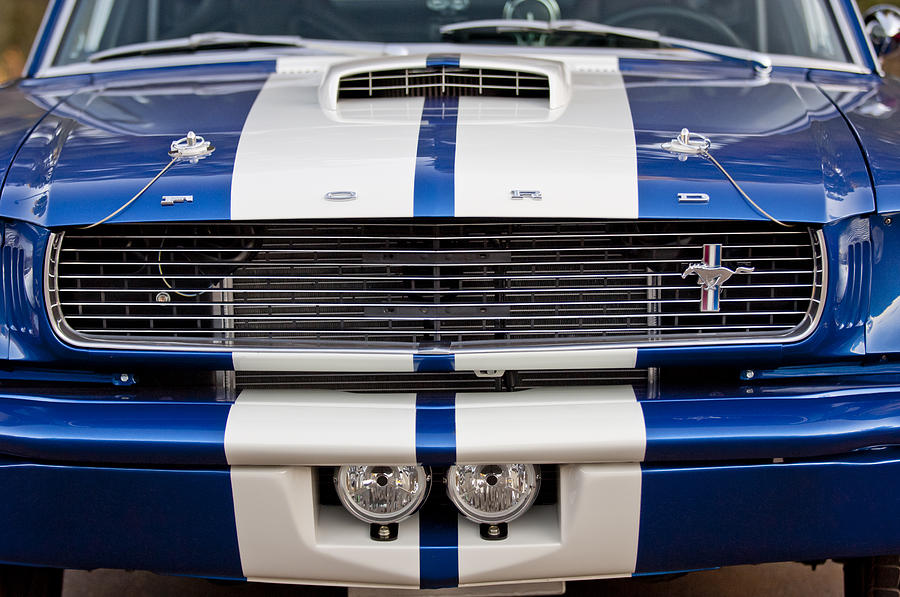 Ford Mustang Grille Emblem Photograph