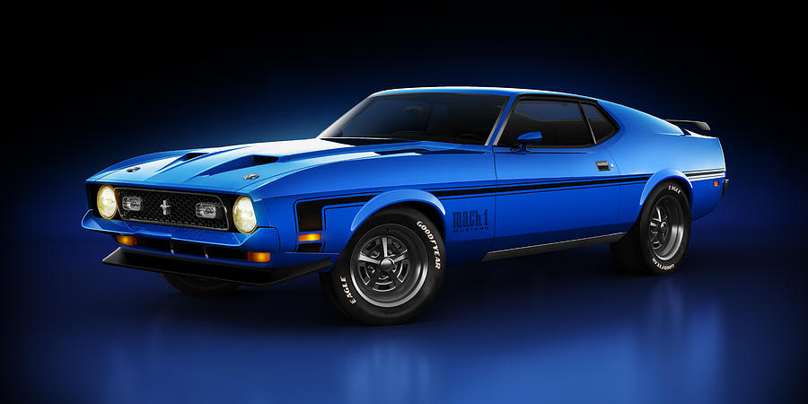 Ford Mustang Mach 1 - Slipstream Digital Art