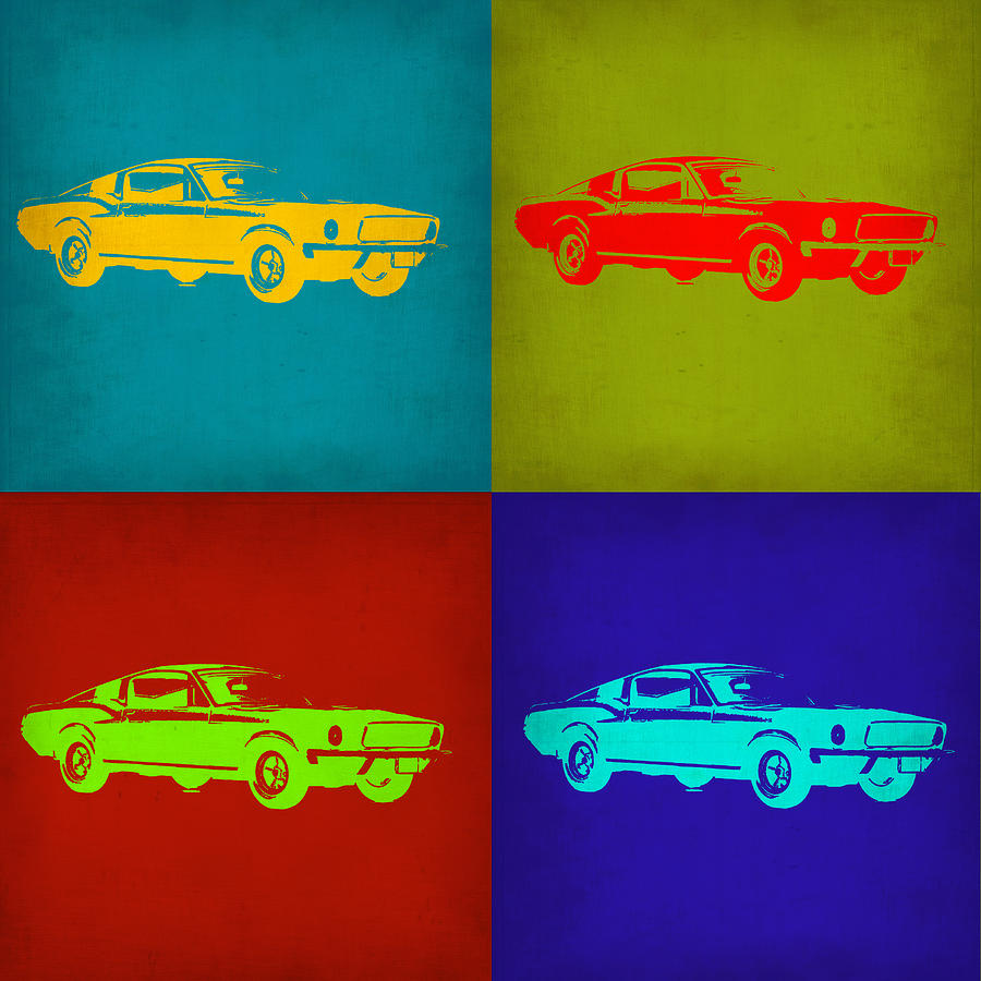 Ford Mustang Pop Art 1 Painting
