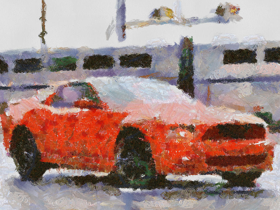 Auto.automobile Photographs Painting - Ford Mustang V6 2013 by Teara Na