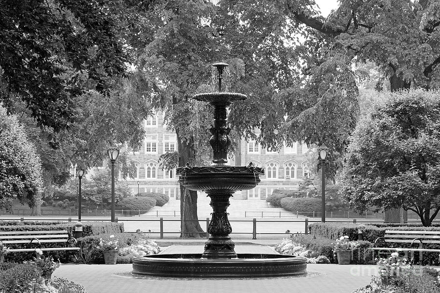 Fordham University Fountain Photograph  - Fordham University Fountain Fine Art Print