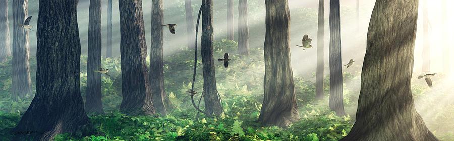 Forest Light Digital Art