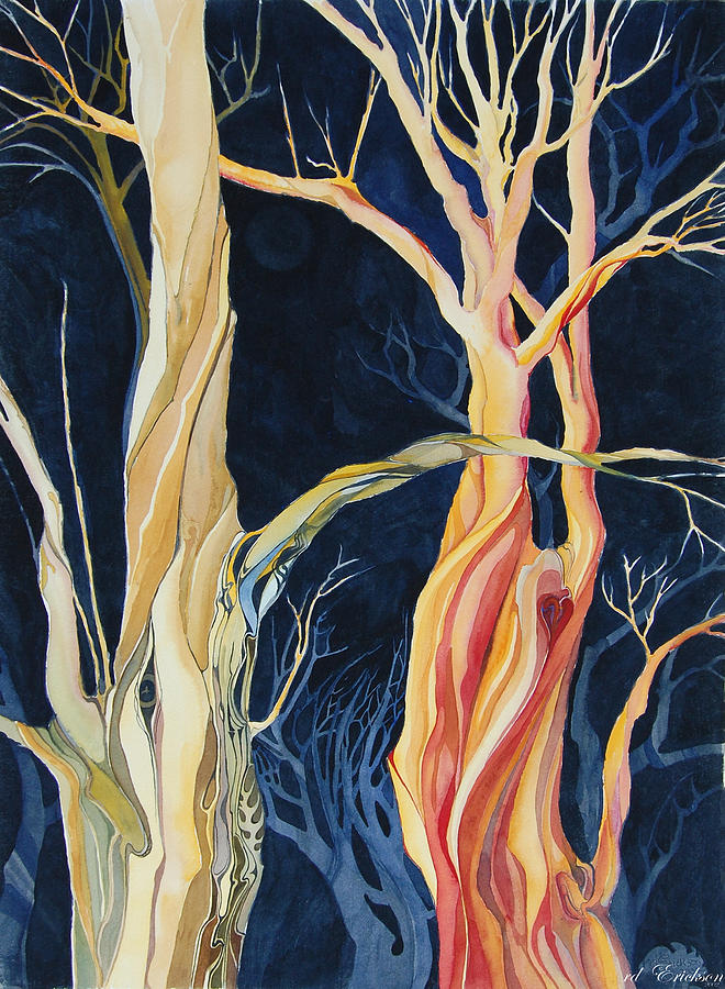 Forest Lovers Vi Painting  - Forest Lovers Vi Fine Art Print