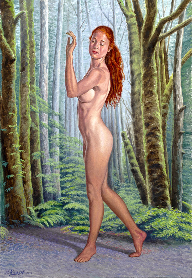 Forest Nymph Painting