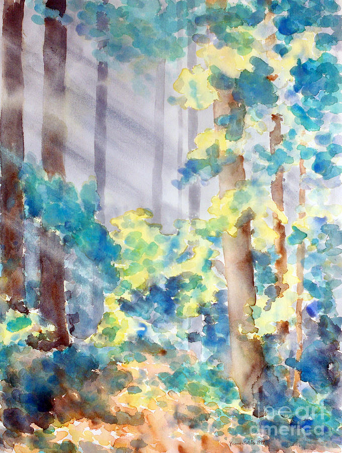 Forest Through The Trees Painting