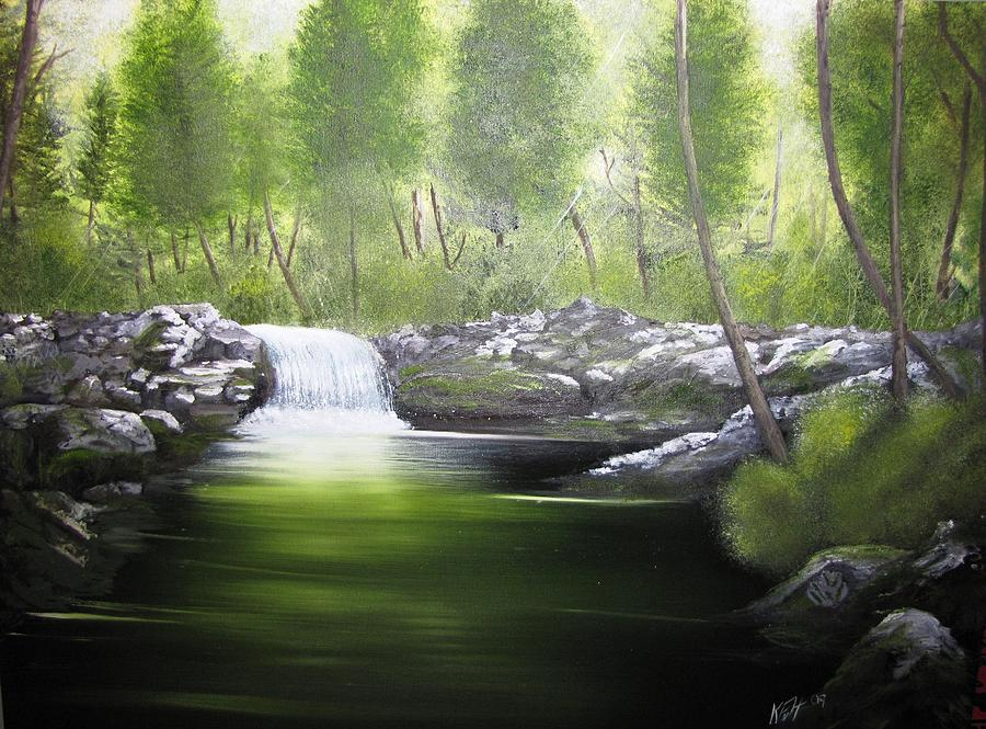 Green Painting - Forever Green by Kevin F Heuman