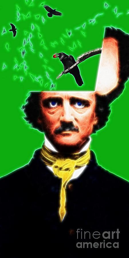 Forevermore - Edgar Allan Poe - Green Photograph