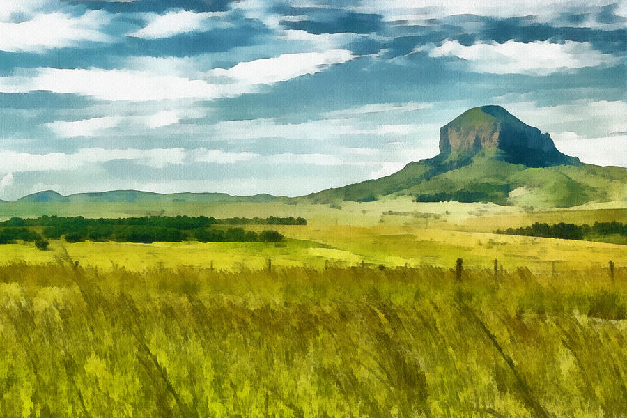 Forgotten Fields Painting  - Forgotten Fields Fine Art Print