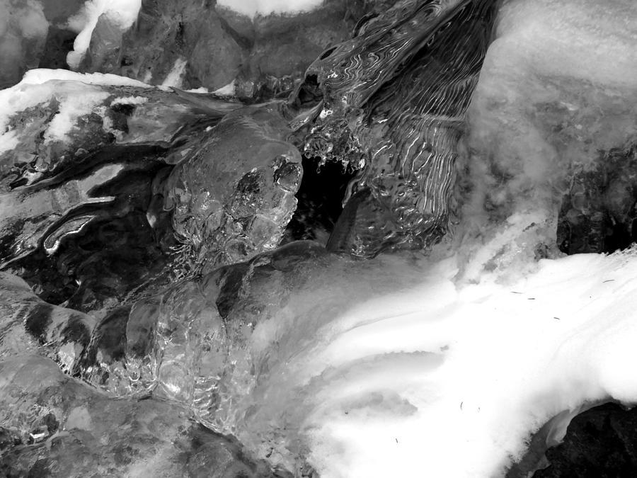 Water Photograph - Formed Ice Skull by Thomas Samida