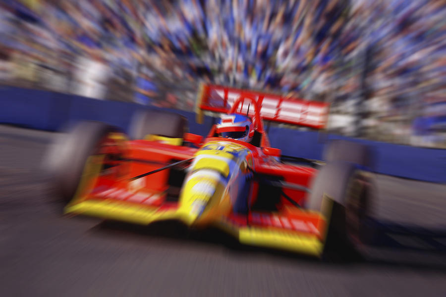Formula Racing Car At Speed Photograph