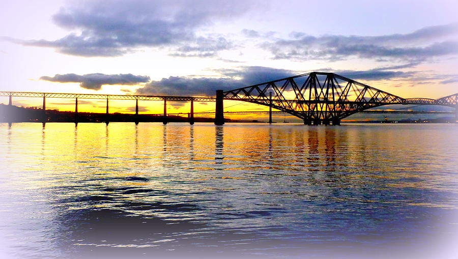 Forth Rail Bridge At Sunset Photograph