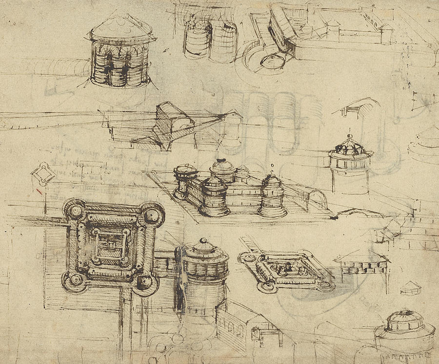Fortress From Atlantic Codex  Drawing
