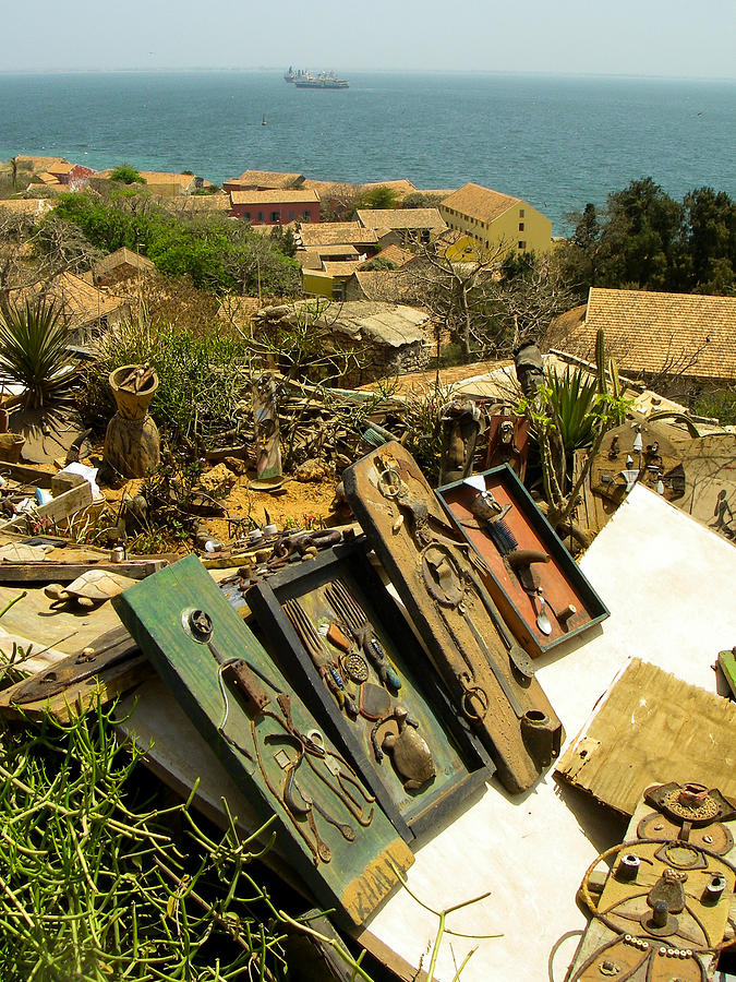 Found Art Hilltop Overlook Ile De Goree Dakar Senegal West Africa Photograph  - Found Art Hilltop Overlook Ile De Goree Dakar Senegal West Africa Fine Art Print