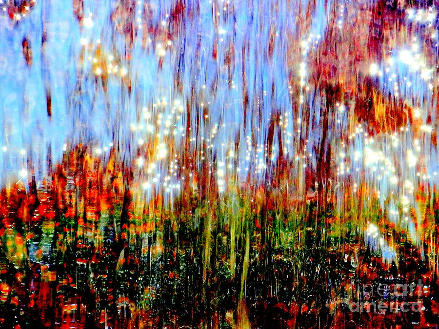 Abstract Photograph - Water Fountain Abstract 3 by Ed Weidman
