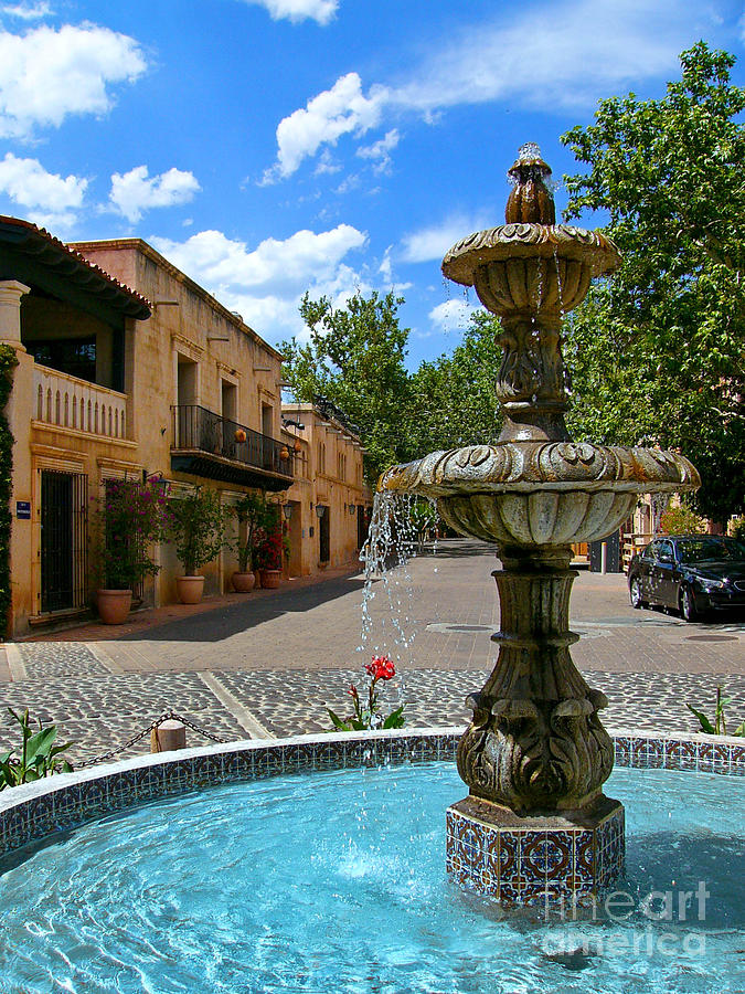 Fountain At Tlaquepaque Arts And Crafts Village Sedona Arizona Photograph  - Fountain At Tlaquepaque Arts And Crafts Village Sedona Arizona Fine Art Print