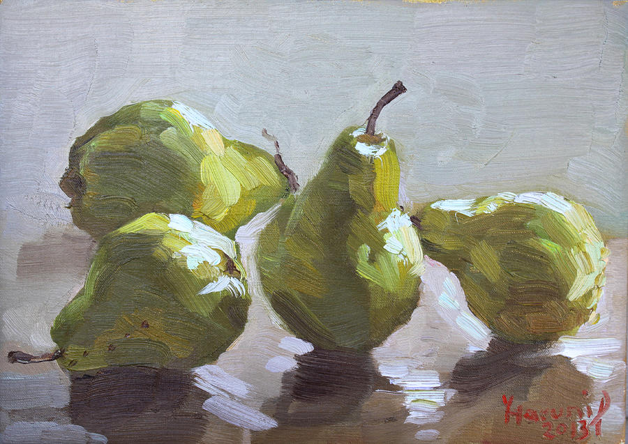 Four Pears Painting  - Four Pears Fine Art Print